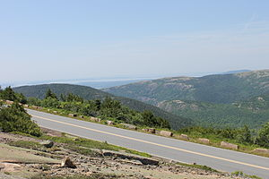 Cadillac Mountain - Image: Highway to Cadillac Mountain IMG 2135