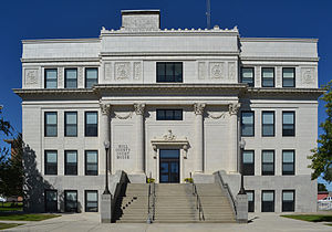 Havre, Montana - Hill County Courthouse in downtown Havre