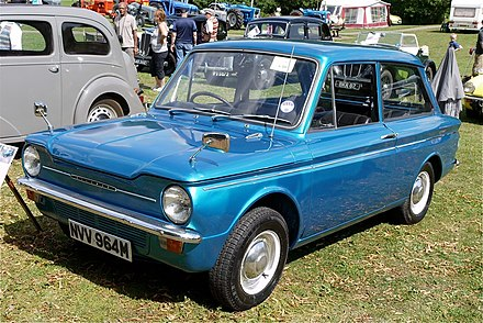 The rear-engine Hillman Imp never caught on with the buying public. Hillman Imp 1974 - Flickr - mick - Lumix.jpg