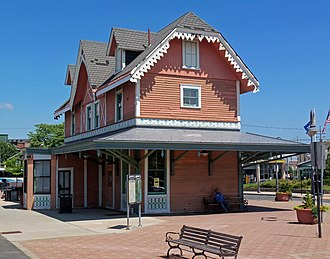 Red Bank station - The Central Railroad of New Jersey depot at Red Bank.