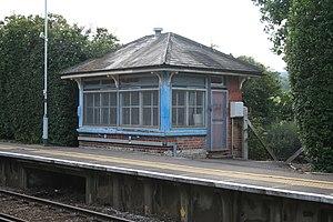 Holmwood railway station - The Grade II listed signal box