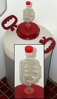 Fermentation lock device used in microbiology
