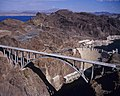 Hoover Dam Bypass Bridge, Lake Mead, Hoover Dam 2010-10-12.jpg