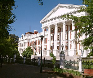 Politics of South Africa - Parliament of South Africa in Cape Town.