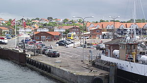 Hundested - The Rørvig ferry in the harbour