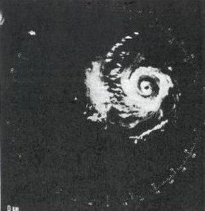 Hurricane Carmen - Image: Hurricane Carmen at landfall in the Yucatán (radar image)
