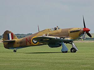 Desert Air Force - Hawker Hurricane in desert camouflage paint scheme