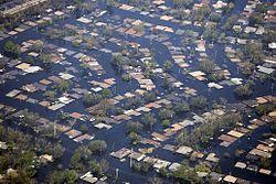Nova Orleães debaixo de água.