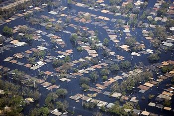 Flooding resulting from Hurricane Katrina