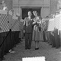Huwelijk Roozenburg (wereldkampioen dammen) rechts Keller, Bestanddeelnr 904-7954.jpg