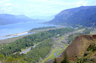 Interstate 84 (Oregon–Utah) - Columbia River Gorge and I-84 from Crown Point, Oregon