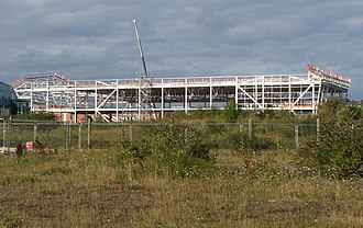 Ice Arena Wales - The arena during construction in August 2014