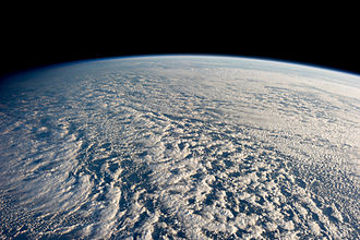 Stratocumulus cloud - Stratocumulus clouds over the Pacific, viewed from orbit