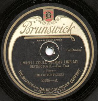 Brunswick Records - A Brunswick record label from 1922
