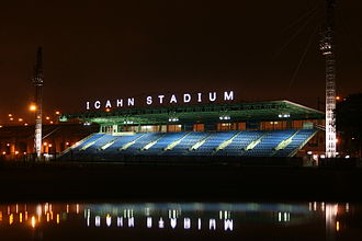 Icahn Stadium - Icahn Stadium, from across the Harlem River in Manhattan.