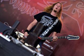Illdisposed - Bassist Jonas Kloge at the Rockharz 2016