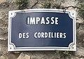 Impasse des Cordeliers (Belley), panneau de rue.jpg