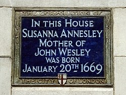 Photo of Susanna Annesley blue plaque