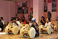 Indian learn how to play the traditional Korean janggu drum at the KCC India (2).JPG