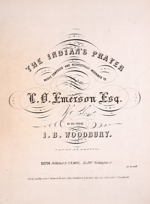 The Indian's Prayer - Cover of sheet music, 1846.