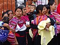 Indigenous Women outside Church - San Cristobal de las Casas - Chiapas - Mexico (15458703199).jpg