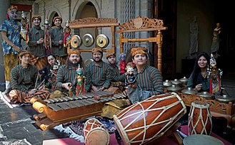 Music of Indonesia - The Sundanese Degung gamelan performance in Museo Nacional de las Culturas Mexico, Indra Swara group.