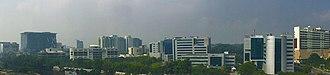 InfoPark, Kochi - View towards Infopark Phase I