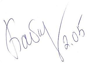 Inha Babakova - Image: Inha Babakova Signature