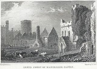 Inner Court of Manorbeer Castle, Pembrokeshire