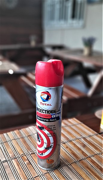 File:Insecticide Spray.jpg Description English: This is a branded insecticide spray by Total Ghana as a gift to its customers.
