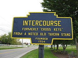 Official logo of Intercourse, Pennsylvania