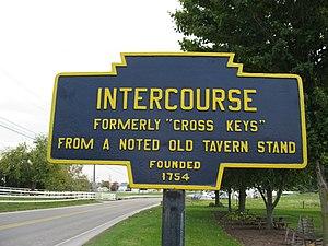 Intercourse, Pennsylvania - Image: Intercourse, PA Keystone Marker 3