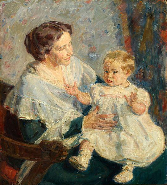 Гад Фредерік Клемент «Інтер'єр з матір'ю і дитиною на її колінах»
