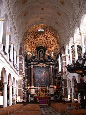 Saint Carolus Borromeus church - Church interior.