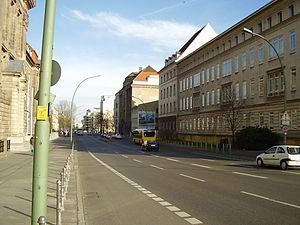 Invalidenstraße - Invalidenstraße with Ministry of Economics (left) and Charité (right)