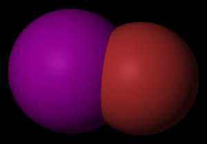 Iodine monobromide - Image: Iodine monobromide 3D vd W