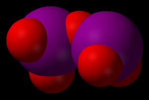 Iodine pentoxide - Image: Iodine pentoxide 3D vd W