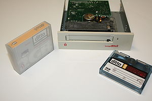 Ditto (drive) - An Iomega Ditto internal drive with a 2GB tape and case.