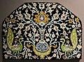 Iran, isfahan (forse), pannello con pavoni, xvii sec..JPG