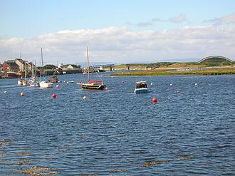 River Garnock - The Garnock Estuary with Irvine Harbour.