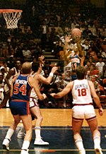 9d45a011d Isiah Thomas against the New York Knicks at Madison Square Garden on  January 19, 1985.