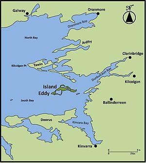 Galway Bay Ireland Map.Island Eddy Wikipedia
