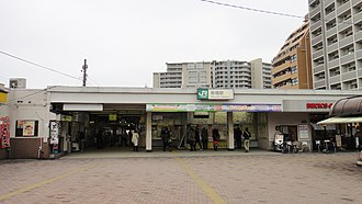 Itabashi Station - West entrance, March 2013