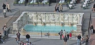 Piazza del Campo - Fonte Gaia