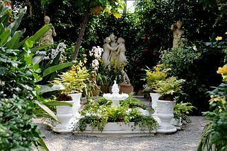 Doris Duke - Duke created the Italian Garden to showcase sculptures that her father had collected, such as this replica of Canova's Three Graces
