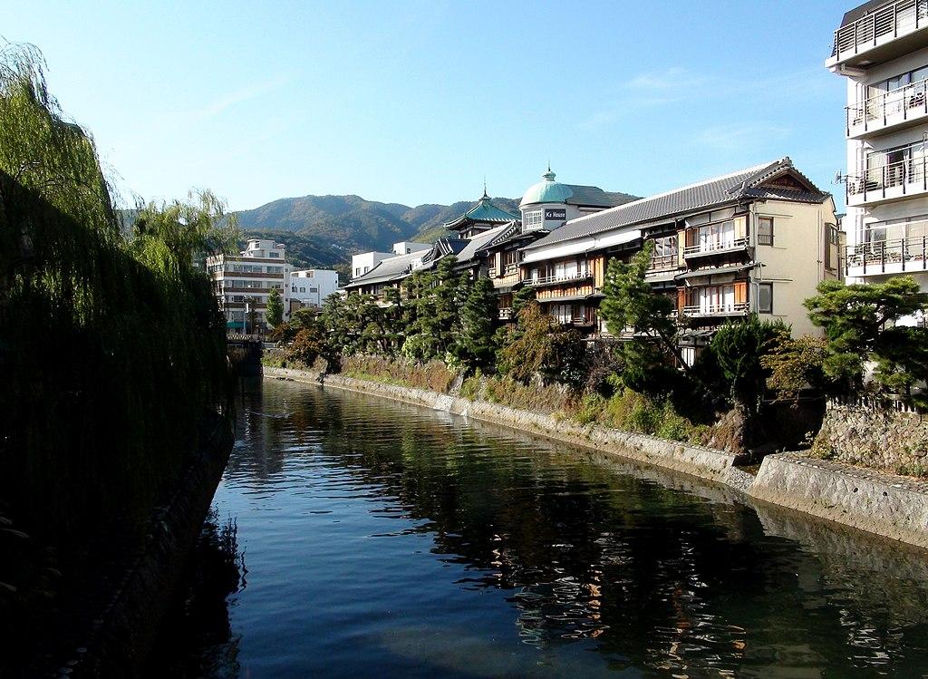 Ito hot spring, upstream side view than Okawa Bridge