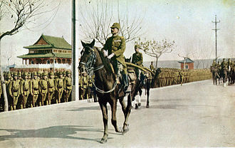 Iwane Matsui - Matsui riding into Nanjing on December 17, 1937