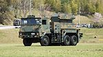 JGSDF Type 81 SAM(launcher, 04-2617) left front view at Camp Shinodayama April 16, 2017 01.jpg