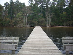 Jones Lake State Park - The fishing pier