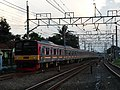 JR 205-18+205-23 arrive Depok station.jpg